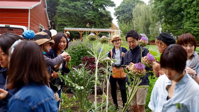 2016年のプログラムの様子。住宅街にある畑を訪問(写真:Shiori Saito Levenson)
