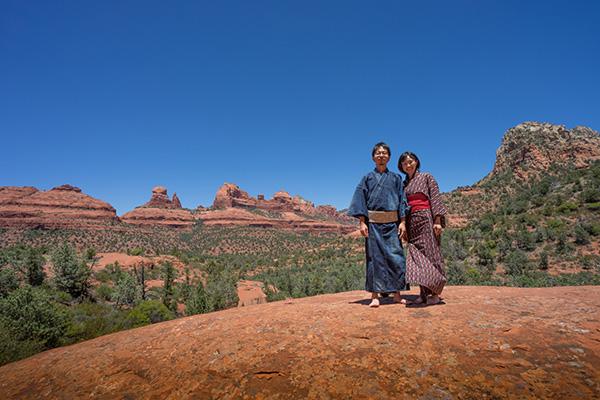 セドナの赤い岩山、レッドロックにて。「いつ終わっても後悔のない人生を歩みたい」