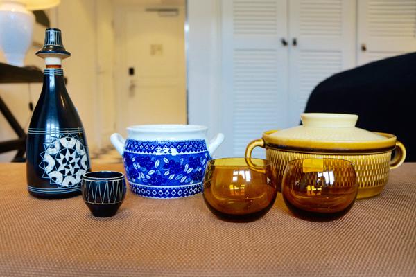 1950年代から60年代のヴィンテージ陶器とガラス