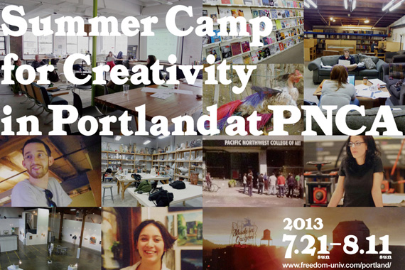 Summer Camp for Creativity in Portland at PNCA