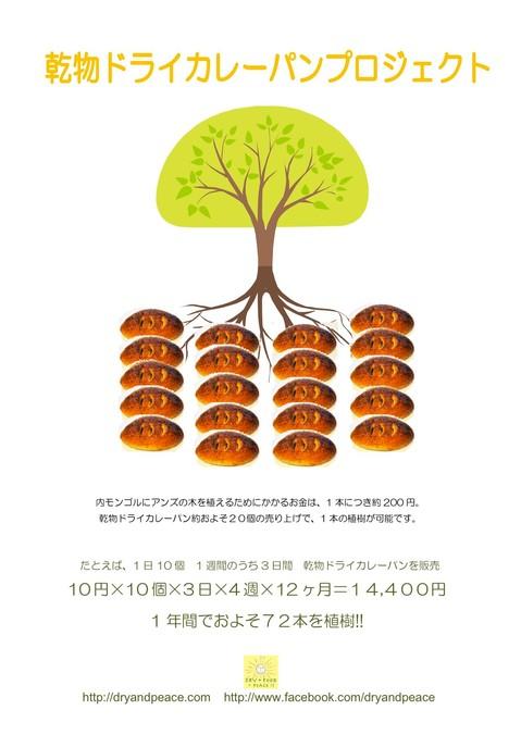 「乾物ドライカレーパンプロジェクト」内モンゴル植樹ツアー開催